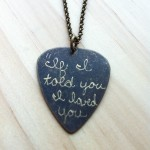 Engraved Guitar Pick Necklace , 8 Gorgeous Guitar Pick Necklace Engraved In Jewelry Category