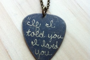 Jewelry , 8 Gorgeous Guitar Pick Necklace Engraved : Engraved Guitar Pick Necklace