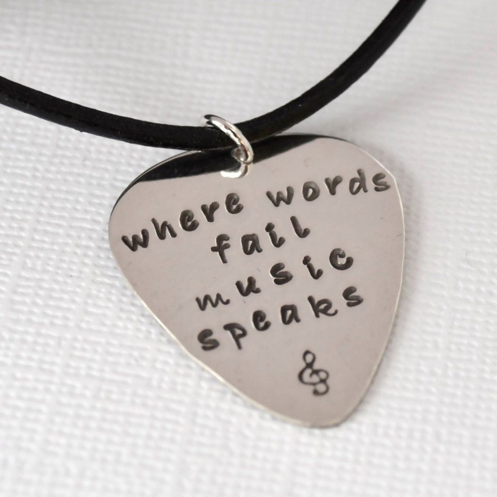 7 Popular Personalized Guitar Pick Necklaces in Jewelry