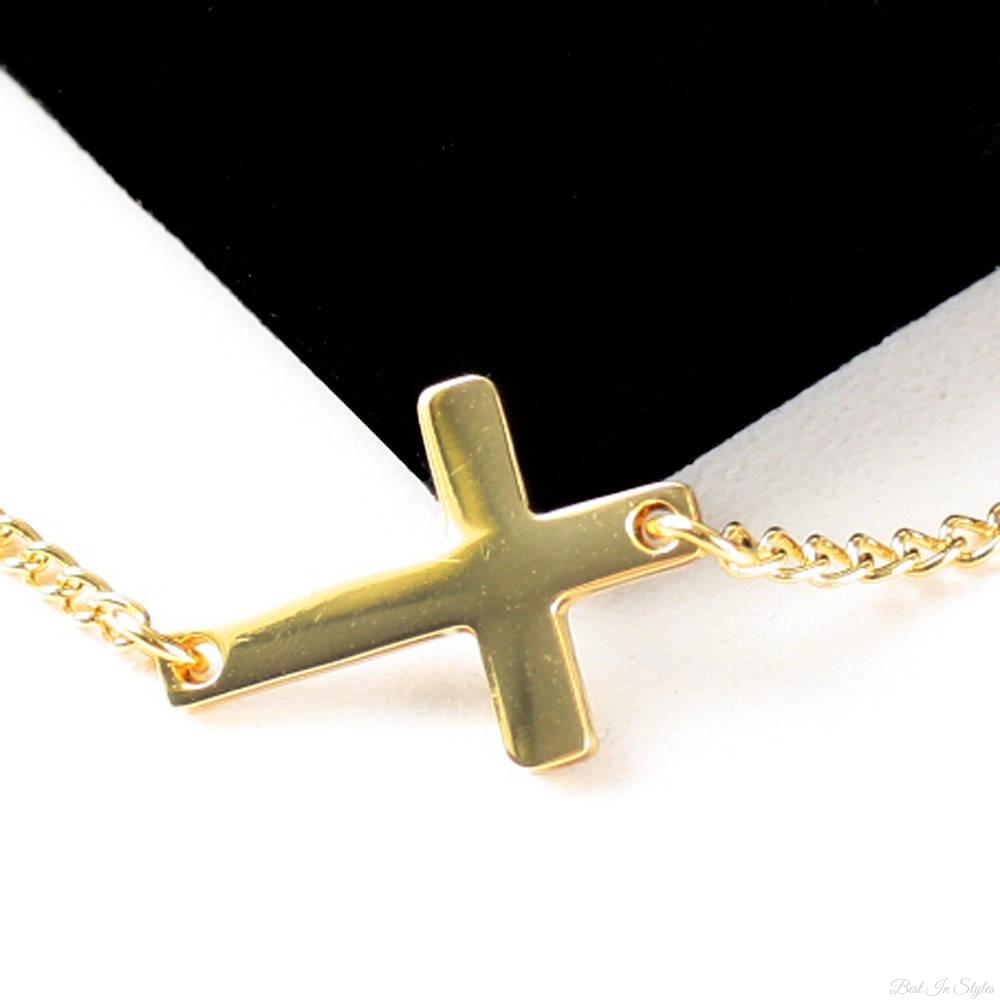 Jewelry , 7 Gorgeous Horizontal Cross Necklaces : Faith Religion Necklace