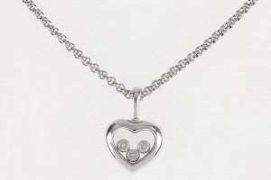 Jewelry , 8 Nice Chopard Floating Diamond Necklace : Floating Diamond Heart Pendant