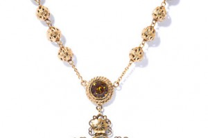Jewelry , 8 Lovely Dolce And Gabbana Rosary Necklace : Gabbana Filigree Cross Rosary Necklace