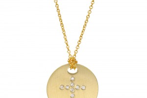 Jewelry , 7 Awesome Roberto Coin Cross Necklace : Gold Circle Pendant