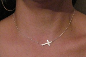 Jewelry , 7 Lovely Horizontal Cross Necklace Meaning : Gold Cross Necklace