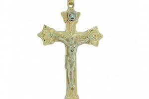 Jewelry , 8 Gorgeous Mens Gold Crucifix Necklace : Gold Diamond Cross