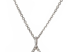 Jewelry , 8 Stunning Diamond Wishbone Necklace : Gold Diamond Wishbone Necklace