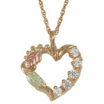 Gold Heart Mothers Birthstone Necklace , 8 Charming Birthstone Necklaces For Mothers In Jewelry Category