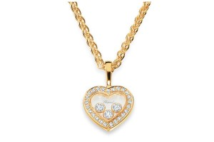 Jewelry , 8 Stunning Chopard Happy Diamonds Necklace : Gold Heart Necklace