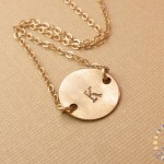 Gold Initial Necklace , 8 Charming 14kt Gold Initial Necklace In Jewelry Category