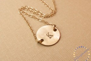Jewelry , 8 Charming 14kt Gold Initial Necklace : Gold Initial Necklace