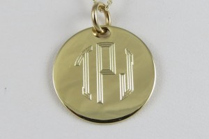 Jewelry , 7 Awesome Gold Disc Monogram Necklace : Gold Monogram Necklace