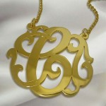 Gold Plated Swirly Initial Necklace , 6 Charming Swirly Initial Necklace In Jewelry Category