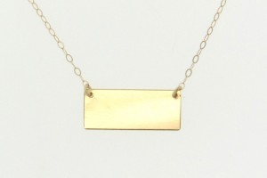 Jewelry , 8 Good 14K Nameplate Necklace : Gold Small Rectangle Nameplate Necklace