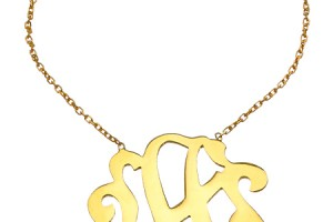 Jewelry , 6 Charming Swirly Initial Necklace : Gold Swirly Initial Pendant Necklace