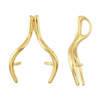 Gold Wishbone Pendant , 8 Charmming 14k Gold Wishbone Necklace In Jewelry Category