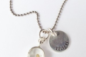 Jewelry , 8 Georgeous Sterling Silver Mustard Seed Necklace : Hand Stamped Necklace