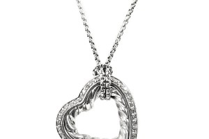 Jewelry , 7 Gorgeous David Yurman Heart Necklace : Heart Silver Cable Necklace