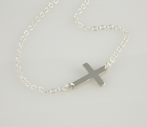 Jewelry , 8 Awesome Horizontal Cross Necklace Sterling Silver : Horizontal Cross Necklace