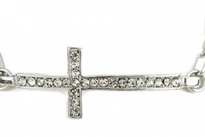 Jewelry , 8 Charming Horizontal Cross Necklaces For Women : Horizontal Side Cross Bracelet