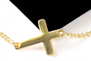 Jewelry , 8 Cool Sideway Cross Necklace Gold : Horizontal Sideway Cross Pendant
