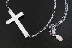 500x500px 8 Awesome Horizontal Cross Necklace Sterling Silver Picture in Jewelry