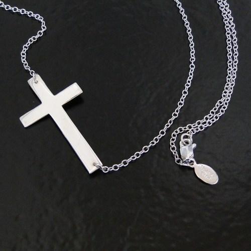 Jewelry , 8 Awesome Horizontal Cross Necklace Sterling Silver : Horizontal Sterling Silver Cross