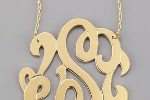 Jewelry , 8 Stunning Jennifer Zeuner Large Swirly Initial Necklace : Initial Necklace in Gold