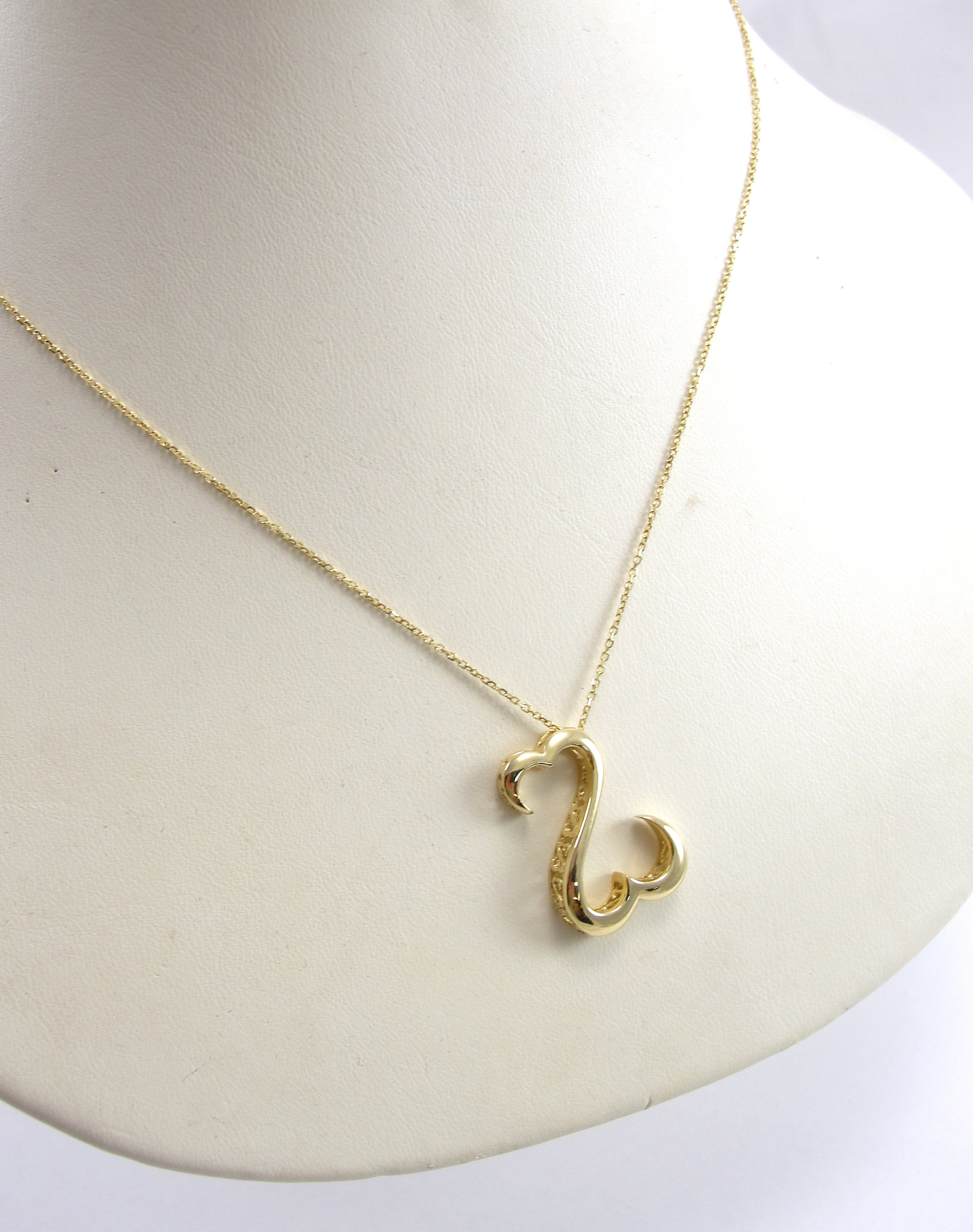 watches filled with free chain necklace open product overstock gold heart shipping silhouette in jewelry pendant today