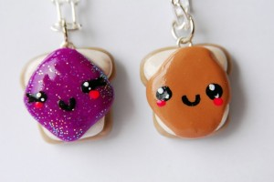 Jewelry , 8 Outstanding Peanut Butter And Jelly Necklaces : Jelly Friendship Necklaces