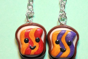 Jewelry , 8 Outstanding Peanut Butter And Jelly Necklaces :  Jelly Goober Best Friend