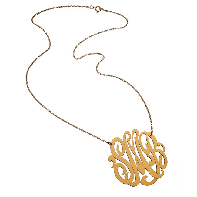 7 Good Jennifer Zeuner Swirly Initial Necklace in Jewelry
