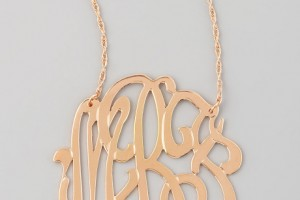Jewelry , 8 Awesome Jennifer Zeuner Initial Necklace : Jennifer Zeuner Rose Gold Initial Necklace