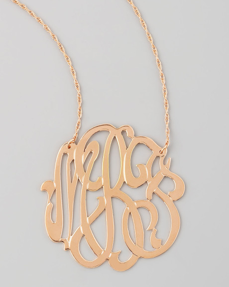 7 Charming Jennifer Zeuner Monogram Necklace in Jewelry