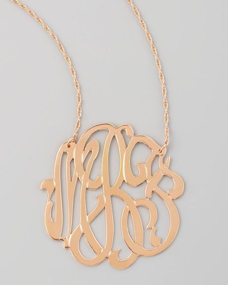 Jewelry , 7 Unique Initial Necklace Jennifer Zeuner : Jennifer Zeuner Rose Gold Initial Necklace