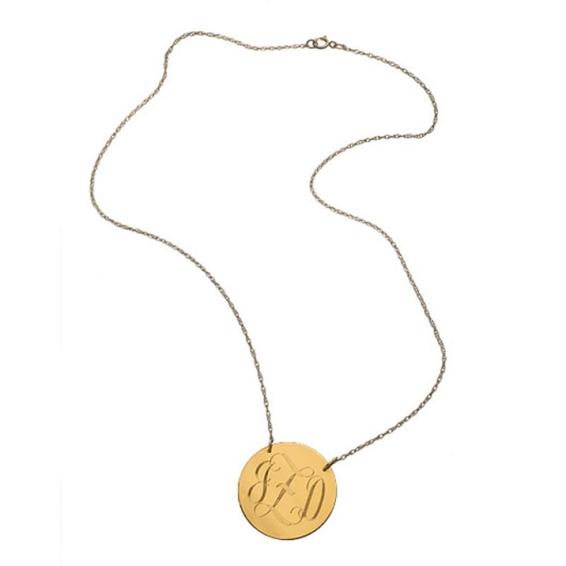 Jewelry , 7 Unique Initial Necklace Jennifer Zeuner : Jennifer Zeuner Swirly Initial Engraved