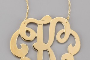 Jewelry , 8 Stunning Jennifer Zeuner Large Swirly Initial Necklace : Jennifer Zeuner Swirly Initial Necklace