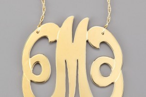 Jewelry , 7 Charming Jennifer Zeuner Monogram Necklace : Jennifer Zeuner Swirly Initial Necklace