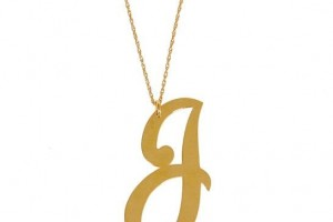 Jewelry , 8 Beautiful Monogram Necklace Jennifer Zeuner : Jennifer Zeuner initial necklace