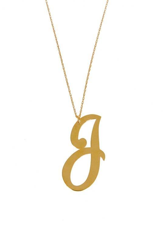 Jewelry , 8 Awesome Jennifer Zeuner Initial Necklace : Jennifer Zeuner Initial Necklace
