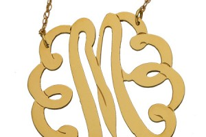 450x540px 6 Charming Swirly Initial Necklace Picture in Jewelry