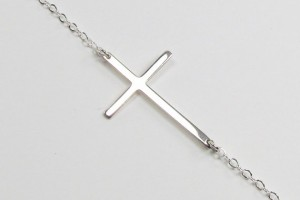 Jewelry , 8 Awesome Sterling Silver Sideway Cross Necklace : Kelly Ripa Sideways Cross Necklace