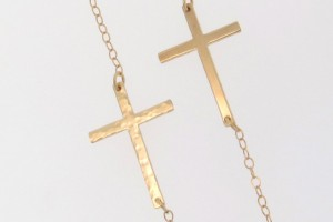 Jewelry , 8 Stunning Kelly Ripa Cross Necklace : Kelly Ripa Sideways Cross Necklace