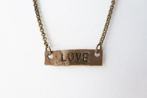 Jewelry , 8 Charming Nameplate Necklace Etsy : Love Etched Plate Necklace