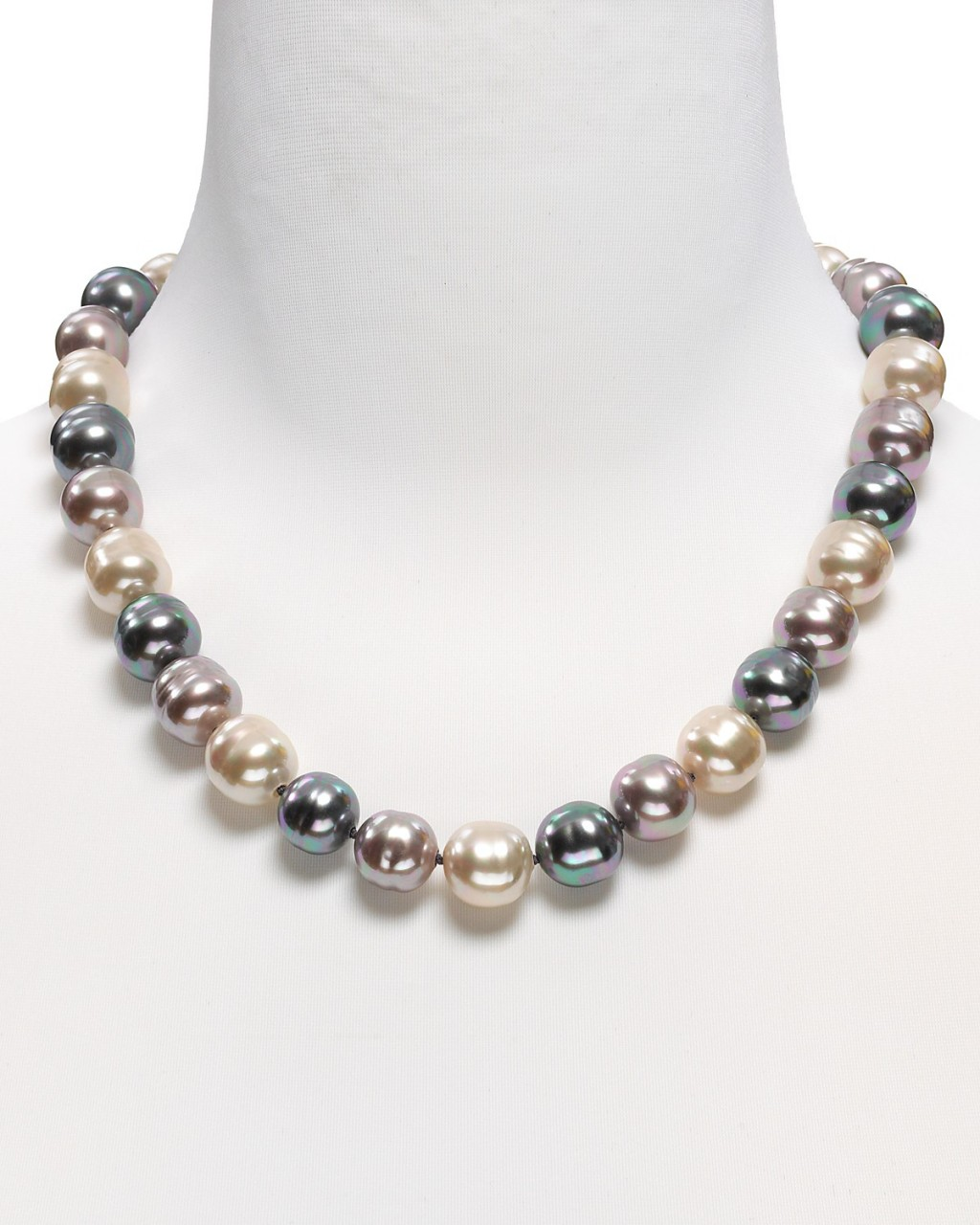 8 Lovely Majorica Baroque Pearl Necklace in Jewelry