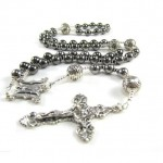 Mens Gunmetal Rosary Necklace , 8 Unique Mens Silver Crucifix Necklace In Jewelry Category