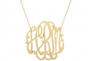 2932x2175px 8 Stunning Metal Script Monogram Necklace Picture in Jewelry