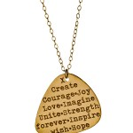 Miriam Merenfeld Necklace , 8 Gorgeous Guitar Pick Necklace Engraved In Jewelry Category