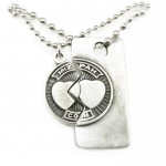 Mizpah Coin Pewter Necklace , 7 Beautiful Mizpah Necklace In Jewelry Category