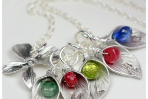 Jewelry , 7 Nice Birthstone Necklaces For Grandma : Mom or Grandma Pendant