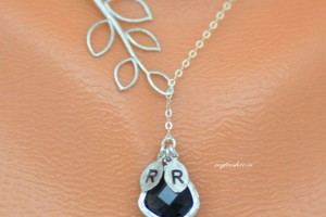 Jewelry , 8 Fabulous Initial Necklaces For Moms : Monogram Initial Necklace